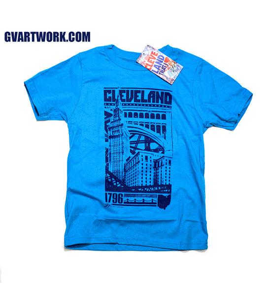Kids Cleveland Bold Graphic T Edition Turquoise