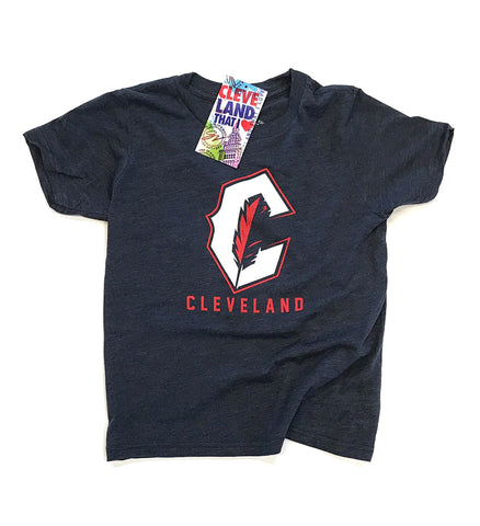 Kids Cleveland C Feather T shirt