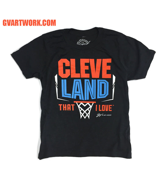 Kids Cleveland Basketball That I Love T shirt
