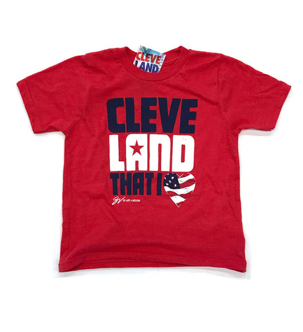Kids Cleveland Cleveland That I Love USA Shirt Red