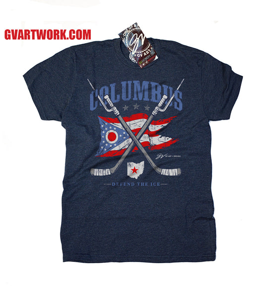 Kids Columbus Hockey T shirt