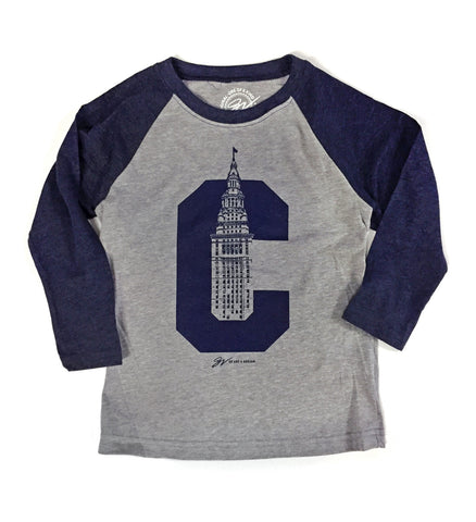 Kids Long Sleeve Terminal Tower C Shirt