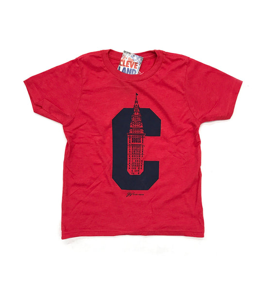 Kids C Terminal Tower T Shirt Red