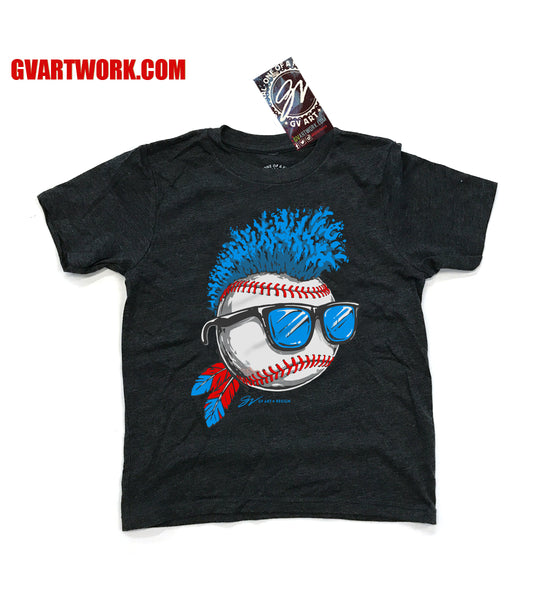 Kids Blue Wild Hair Cleveland Baseball T shirt