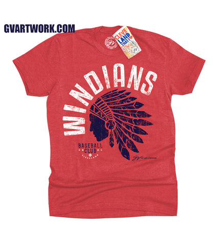 Kids Cleveland Windians Baseball T shirt