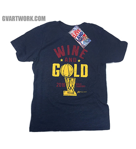 Kids Wine and GOLD! 2016 World Champions T shirt