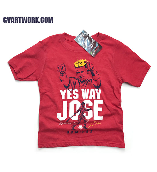 Kids- Jose Ramirez Yes Way Jose T shirt