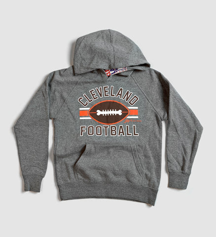 Kids Cleveland Football Stripes Hooded Sweatshirt