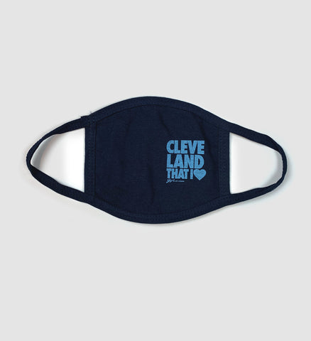 Kids Cleveland That I Love Mask - Navy