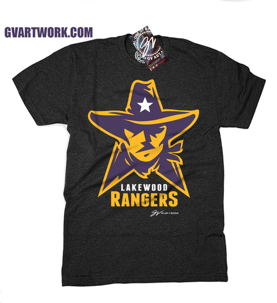Lakewood Rangers Logo T shirt - Charcoal