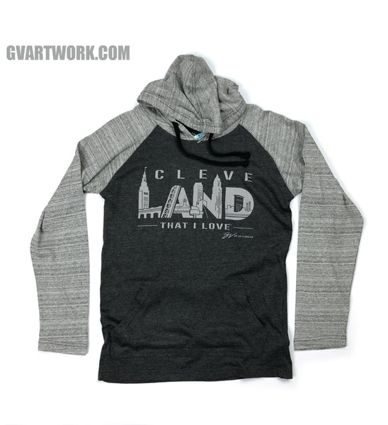 Cleve LAND Two tone Long Sleeve Hooded Tee