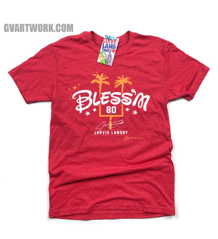 Limited Edition Jarvis Landry Bless'm Pro Bowl T shirt