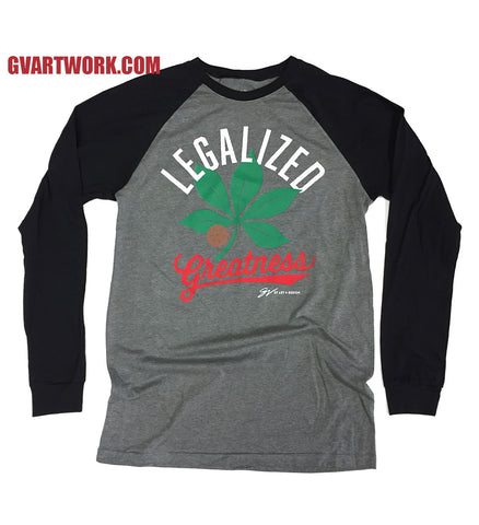 Legalized Greatness - Long Sleeve Grey/Black T shirt