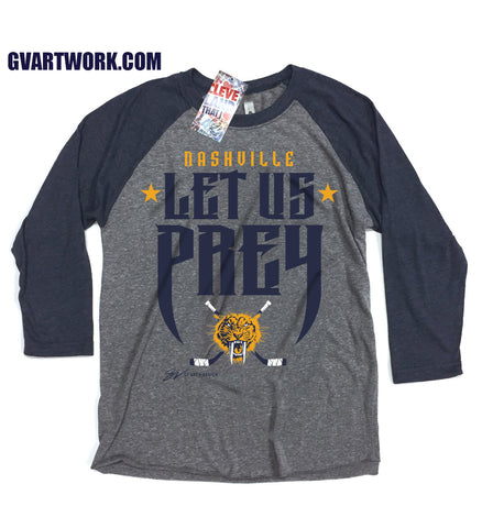 Let Us Prey Nashville Hockey 3/4 Sleeve T shirt
