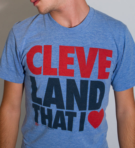 Cleveland That I Love T-shirt- Blue Cleveland Tee