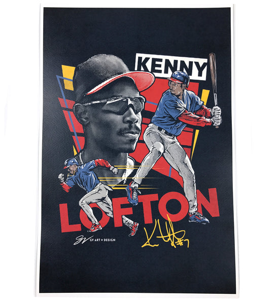 Kenny Lofton Fine Art Print
