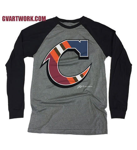 Team C Long Sleeve Two Tone T shirt