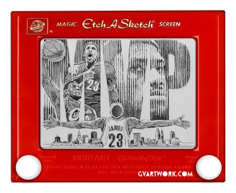 Limited Edition Lebron James MVP Etch A Sketch Artwork