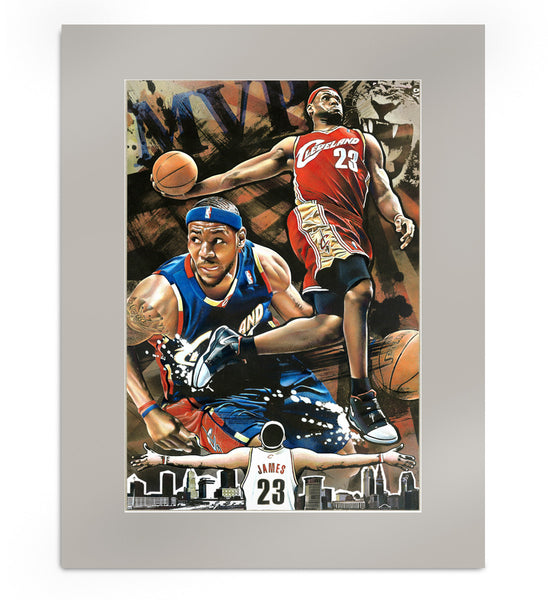 Lebron James MVP Matted Print