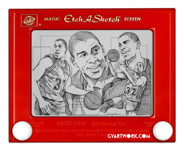Limited Edition Magic Johnson Etch A Sketch Artwork