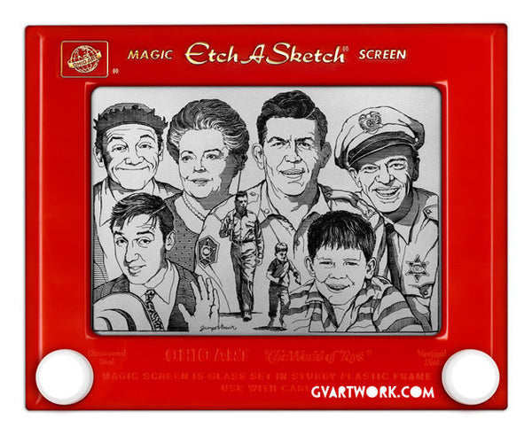 Limited Edition Andy Griffith Mayberry Etch A Sketch Artwork