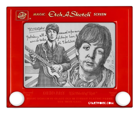 Paul McCartney Original Etch a Sketch Artwork