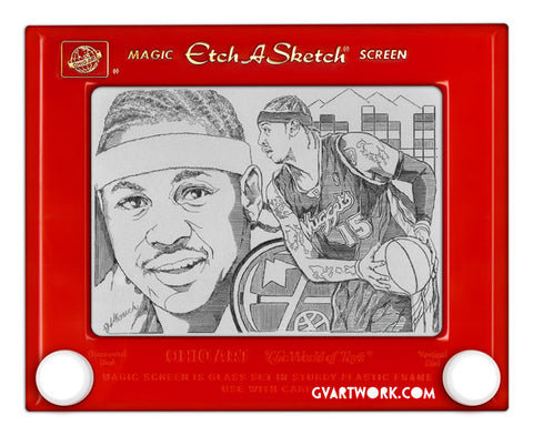 Limited Edition Signed by Carmelo Anthony Etch A Sketch Artwork