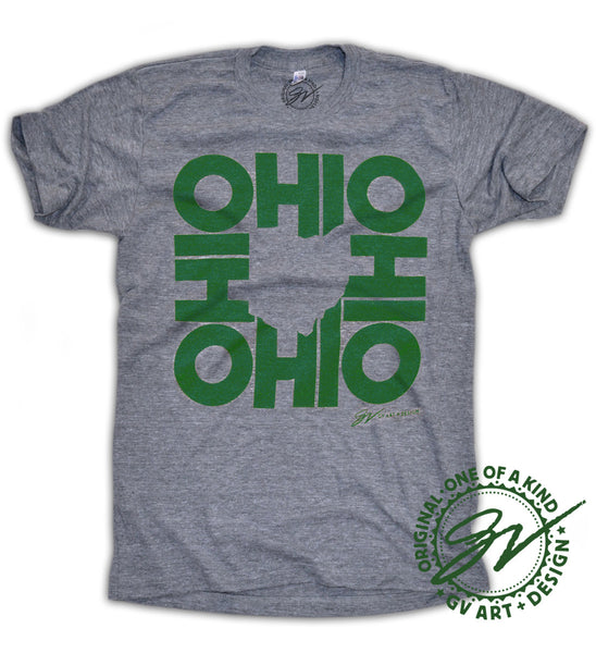 Green All In Ohio T shirt