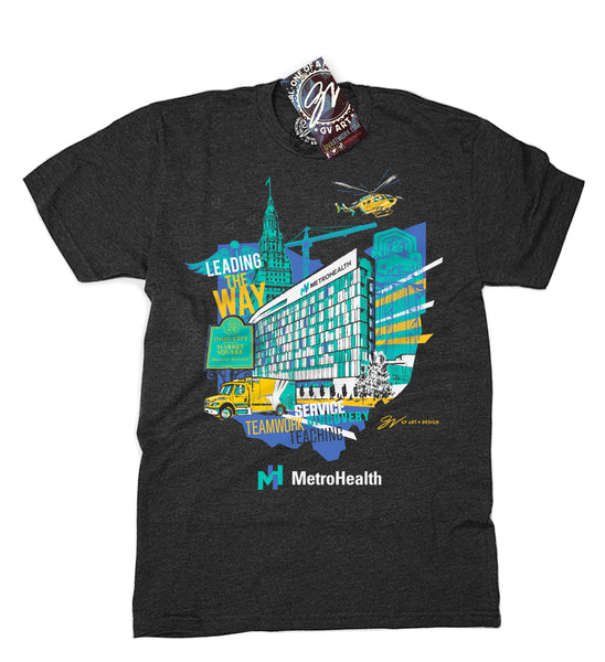 "Metro Health ""Leading The Way"" Custom T Shirt"