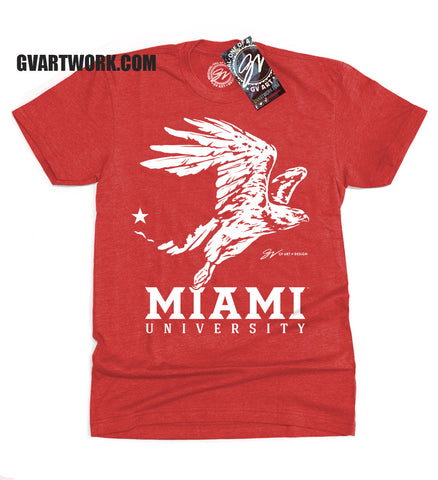 Miami University T shirt Red