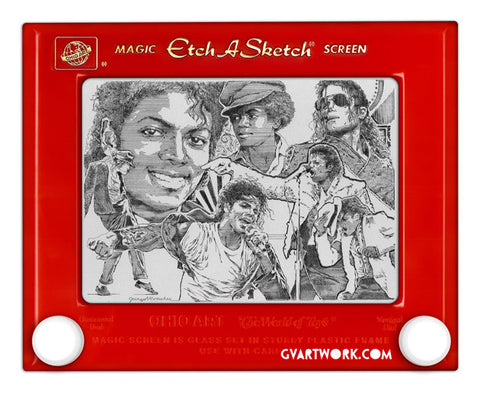 Limited Edition Michael Jackson Etch A Sketch Artwork