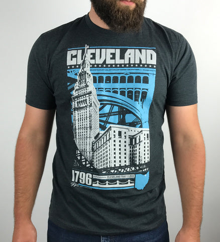 Cleveland 2 Color Bold Graphic T shirt