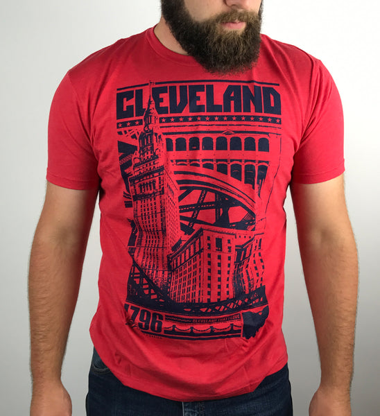 Cleveland Bold Graphic T - Red