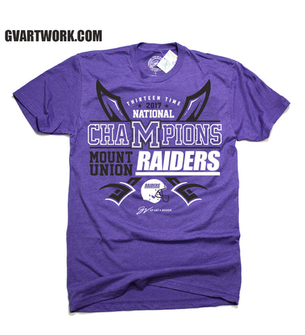 Mount Union 13 Time National Champions T shirt