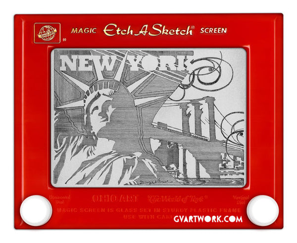 New York Etch A Sketch Print