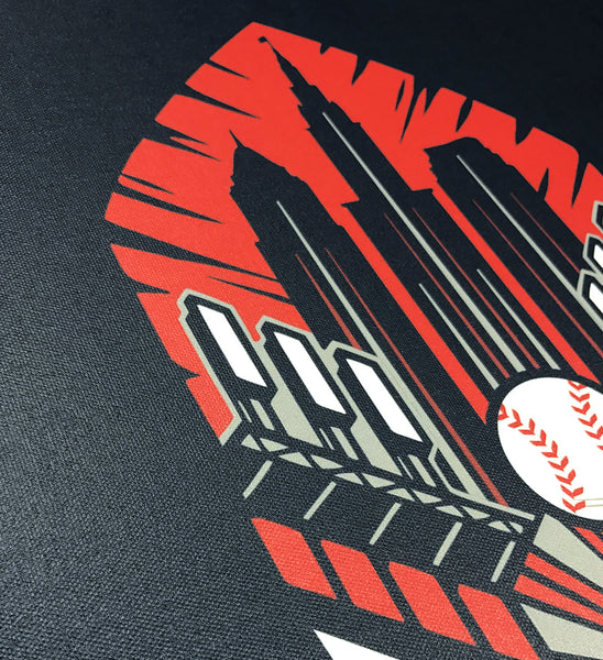 Cleveland Baseball Feather Canvas Artwork