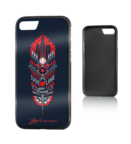 Cleveland Baseball Feather Phone Case