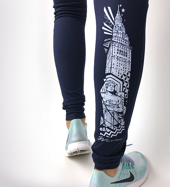 Cleveland That I Love Leggings - Navy