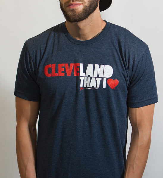 Cleveland That I Love T shirt - Navy