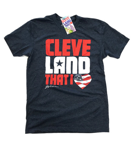 Navy Cleveland That I Love USA T Shirt