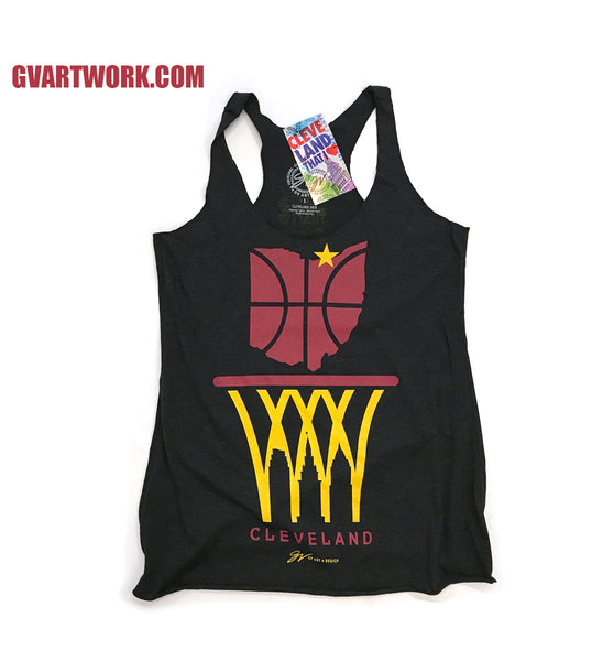 Cleveland Nothing But Net Skyline Womens Tank