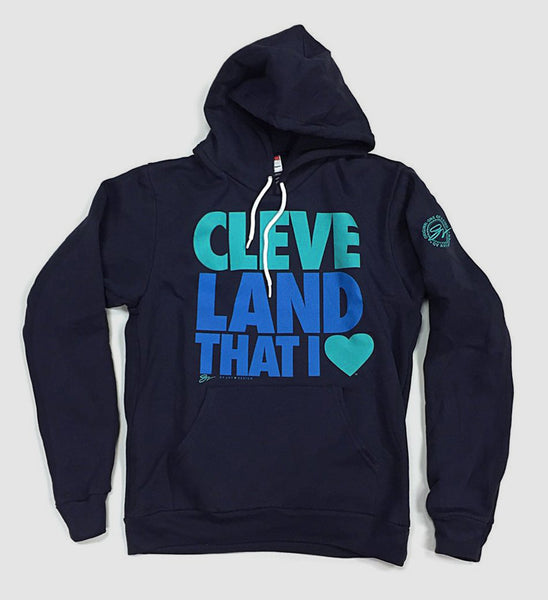 Cleveland That I Love Hooded Sweatshirt Navy Blue