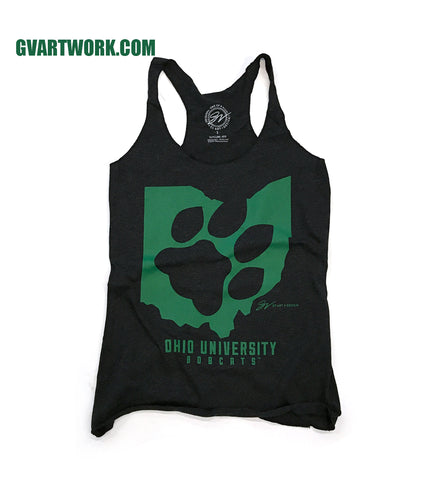 Women's Ohio University Paw Print Racerback Tank