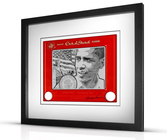 Obama Etch A Sketch -Limited Edition President Obama Inaugural Giclee