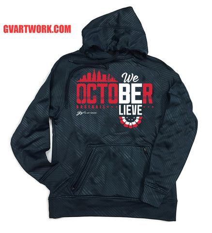 We Believe! Cleveland October Baseball Postseason Hooded Sweatshirt
