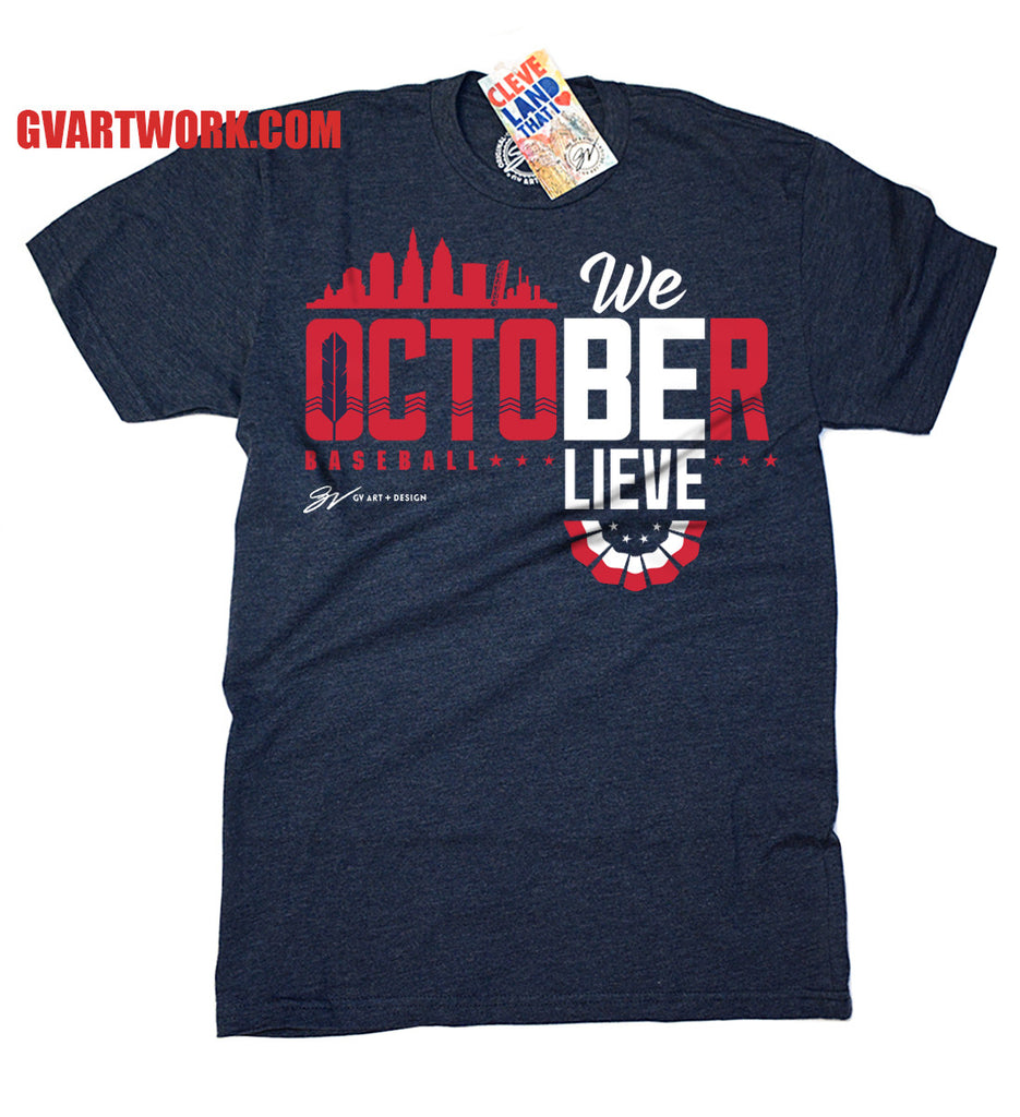 Design t shirt baseball - Cleveland October Baseball Postseason T Shirt