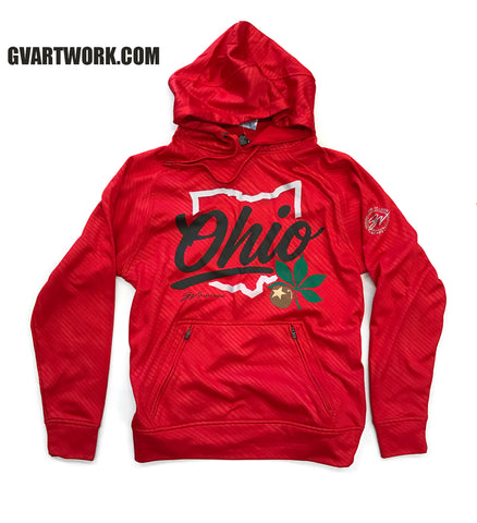 Script Ohio Athletic Style Hooded Sweatshirt