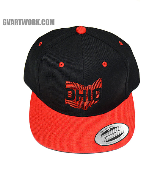OHIO Graphic Snap Back Hat Black/Red