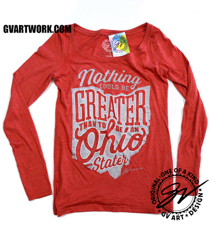 Womens Long Sleeve Nothing Could Be Greater Than to be an Ohio Stater Shirt
