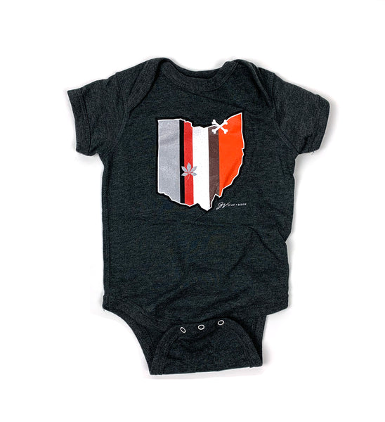 Ohio Stripes Onesie